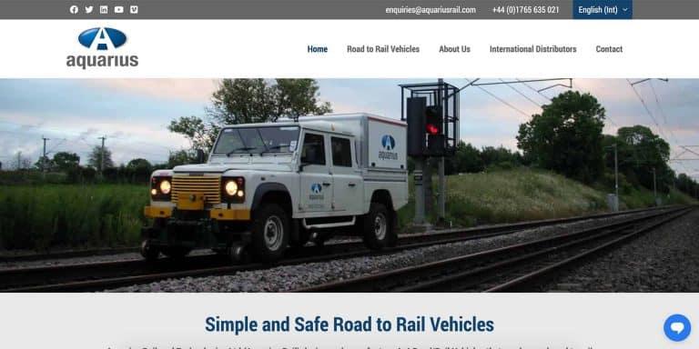 Aquaruis Rail Website