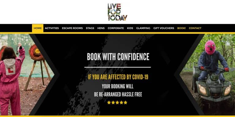 Live For Today Website