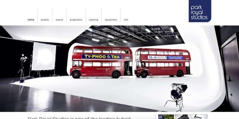 Park Royal Studios Website