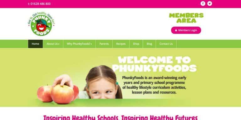 PhunkyFoods Website