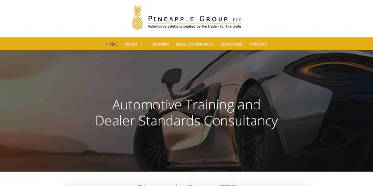 Pineapple Group FZE Website