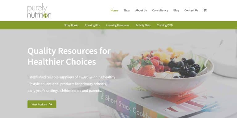 Purely Nutrition Website